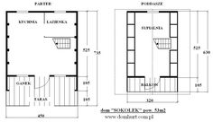 pow. 53 m2 Floor Plans, Frames, Houses, Alpine House, Country Houses, Homes, Frame, House, Computer Case