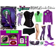 Inspired by the beautiful photograph of the female in a joker costume. I believe this was for Cosplay but I would rock this for Halloween. Give a little break t...