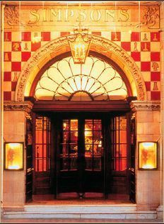 Simpson's in the Strand, London's esteemed restaurant has long been known for its carved beef AND chess heritage - note the chess board tiles around the entrance. (Just be sure to honor tradition by tipping the strolling meat carver). http://www.simpsonsinthestrand.co.uk/