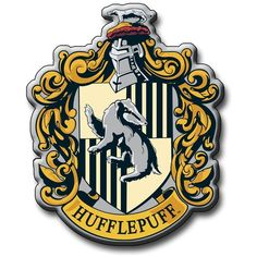 Harry Potter Hufflepuff Crest Magnet, Multi-Colour ($7.29) ❤ liked on Polyvore featuring home, home decor et office accessories
