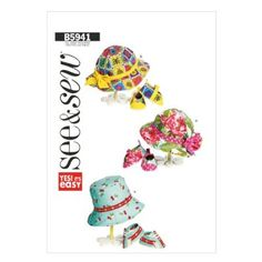 Butterick Patterns B5941 Infants' Hats and Shoes Sewing Templates, One Size Only:Amazon:Arts, Crafts & Sewing