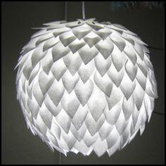Felt Petal Swag Lamp