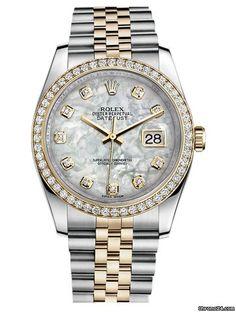 Offre d'une Rolex Datejust: 15.820€ Rolex Oyster Datejust 36, Référence 116243-0018; Or/Acier; Remontage automatique; État 0 (jamais portée); Avec boîte; Ave