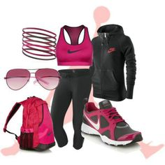 Blk n Pink Nikes cute as usual, a pair of Nike's Shoes for Cheap im in love with and I can't find them. Nike Workout Gear, Workout Wear, Workout Style, Pink Nike Shoes, Nike Shoes Cheap, Nikes Girl, Pink Nikes, Wholesale Nike Shoes, Pink Workout