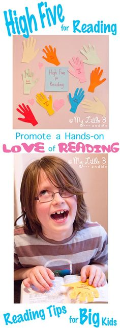 Get hands-on with reading. Reading Tips for all kids on World Book Day or any day!