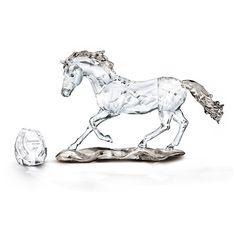 Swarovski SCS Annual Edition 2014 Horse Esperanza ($495) ❤ liked on Polyvore featuring home, home decor, spanish home decor, horse home decor and engraved plaques