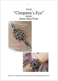 Tutorial de pulseras pulsera ojo de CLEOPATRA por PerlineeBijoux
