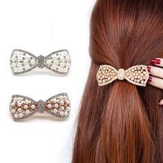 1Pcs Crystal Rhinestone Hair Clips Scrunchy Donut Big Hair Pins Metal Clip  Haipins Hair Accessories For 1b9acde52886