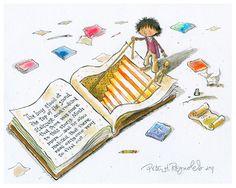 El poder de la lectura para sumergirte en una historia I Love Books, Good Books, Books To Read, Classe Dojo, Peter Reynolds, Book Hangover, Library Posters, Reading Art, Writing Art