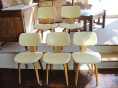 Five Mid - Century Thonet Bentwood Side Chairs - Vintage $695  www.rubylane.com