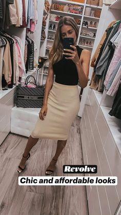 Business Casual Skirt, Business Casual Outfits For Work, Business Professional Outfits, Business Outfits Women, Women Business Fashion, Business Chic, Professional Dresses, Office Fashion Women, Cute Office Outfits