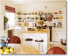 Open Kitchen Shelving That Will Inspire You All the colors in the white kitchen!All the colors in the white kitchen!