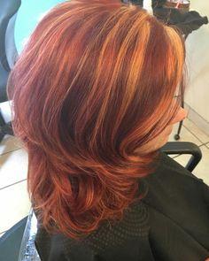 Redhead beauty created by Stylist Benita colorsbykim.com