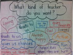 What kind of teacher do you want?  First day of School