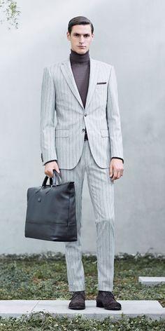 Sean OPry + Mathias Bergh Model Business Fashions for Hugo Boss Fall/Winter 2014