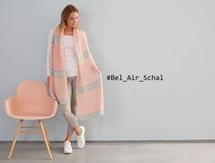 cooler Schal im Lochmuster-Mix, die Anleitung für den Bel Air Schal gibt es auf meinem Blog und läuft im September als Knit a Long! #bel_air_schal