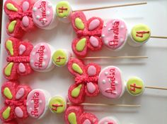 Butterfly marshmallow pops by Marshmallowfavors on Etsy, $48.00