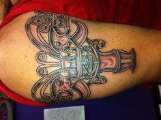 My pre Colombian art tattoo from Inca heritage of South America. Aztec Tattoo Designs, Armband Tattoo Design, Tattoo Designs And Meanings, Best Tattoo Designs, Tattoos With Meaning, Leg Tattoos, Arm Band Tattoo, Body Art Tattoos, Cool Tattoos