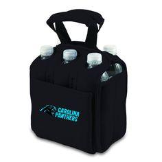 New Black Six Pack Beverage Cooler Tote Bag - Licensed NFC Carolina Panthers #PicnicTime FootBall Season!