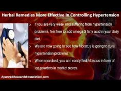 This video describes about why herbal remedies are more effective in controlling hypertension. You can find more detail about Stresx capsule at http://www.ayurvedresearchfoundation.com