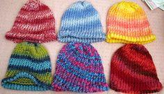 Colorful Beanies OSFM by KarensKreationsToday on Etsy, $8.00