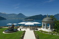 Welcome - Park Hotel Vitznau - Health & Wealth Residence - Lake Lucerne Switzerland Lake Lucerne Switzerland, Switzerland Hotels, Venice City, Hotel Specials, Glass Pavilion, Terrace Restaurant, Hotel Stay, Seen, Park Hotel
