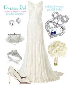 Add the Origami Owl Bow-quet pin and Medium Heart Locket to your bridal bouquet to tell the story of your new life. #Bride #swarovski #wedding http://www.tamiheldt.origamiowl.com