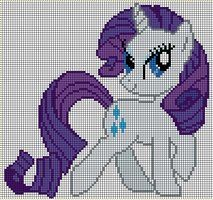 Rarity Pattern by ~Jackiekie Crossstitch and Embroidery Pattern My Little Pony Crafts Tutorial My Little Pony Patterns for Fan Art Diy Projects, My Little Pony Sewing Template for Unicorn , pony, ponies, pattern, template, sewing, diy , crafts, kawaii, MIP