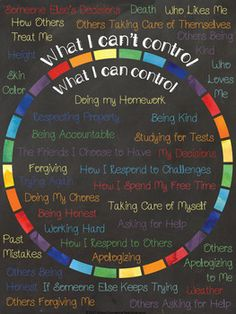 Adolescent Counseling Tool: What Are Things I Can & Can\'t Control: www.teacherspayte...