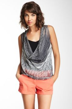 Drape Front Silk Vest Top by Subtle Luxury on @HauteLook