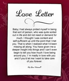 Image discovered by Mydear Valentine. Find images and videos about love letter, romantic love letters and cute love letters on We Heart It - the app to get lost in what you love. Care Quotes, Best Quotes, Romantic Love Letters, Birthday Wishes For Boyfriend, Relationship Texts, Relationships, Cute Couple Quotes, Letter To Yourself, Love My Husband