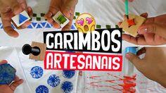 DIY - Faça você mesmo CARIMBOS CASEIRO, artesanais para customizar camisetas, decorar cadernos ou até mesmo criar papeis de presente criativo.   Materiais utilizados: Madeira, EVA, frutas, verduras, barbante, rolo de papel, botões, borracha e tintas.  Gostou da ideia? Então compartilhe com seu amigo! Confira mais ideias em www.aprendacomedu.com