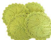 #Dish Cloth #Wash Cloth Handmade Dish Cloth #Knit Lime Green JennifersStitchWorks at Etsy.com