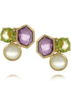Gelato 18-karat gold multi-stone earrings