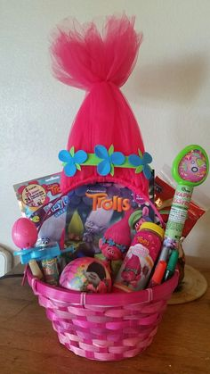 Poppy troll easter baskets my creations pinterest easter i made this trolls easter basket i think princess poppy would be proud of my negle Choice Image