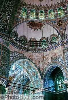 Sultanahmet (or Blue) Mosque built in Istanbul, Turkey. - Beatriz Gomez - - Sultanahmet (or Blue) Mosque built in Istanbul, Turkey. Islamic Architecture, Beautiful Architecture, Beautiful Buildings, Art And Architecture, Architecture Details, Pamukkale, Oh The Places You'll Go, Places To Travel, Places To Visit