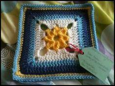 Begonia block from Jan Eaton's 200 Crochet Block book