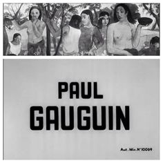 Gauguin (1950) directed by #AlainResnais  A 14 minute short on #PaulGaugain built with camerawork focused on the artists paintings. The film is pretty much divided between his time in Europe and his time in the South Seas (Tahiti). #Gaugin is available in French without English subtitles on YouTube.