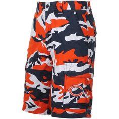 c4cc3097e Chicago Bears Tailgate Camo Shorts - Navy Blue Orange