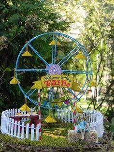 The Ultimate Guide to Creating the Perfect, Tiny Fairy Garden And don't feel like you need to stick to the same theme. Here's one from Etsy that's a carnival garden, instead of the traditional magical fare. (It's also available as a fairy garden kit for $89.95.)