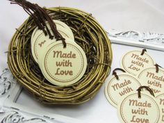 Made With Love Tags Price Tags Craft & Trade by GoldenNestStudio