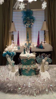 Eden's Frozen party, Disney Frozen Birthday cake