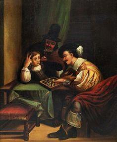 de MOOR Carel (1656 – 1738) Le Jeu De Echecs.