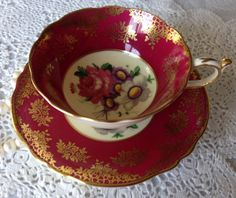 Fancy Paragon China Tea Cup & Saucer Teacup by TheEclecticAvenue
