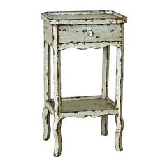 Distressed Bedside with Tray Top