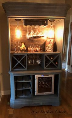 Items similar to Custom Armoire Bar Cabinet, Coffee Station, Wine Cabinet, Rustic Bar, Repurposed Armiore Cabinet on Etsy - Bar furniture Bar Furniture, Refurbished Furniture, Repurposed Furniture, Furniture Makeover, Vintage Furniture, Cabinet Furniture, Etsy Furniture, Furniture Stores, Cheap Furniture