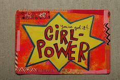 Postcard: Girl power by @iHanna .- made for the #Diypostcardswap