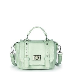 "Sole Society ""Evan"" Vegan Leather Mini Messenger in Mint"