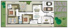 Planta de casa com suite e closet - Planta Pronta