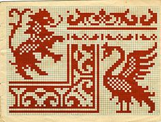 Cross Stitch Samplers, Cross Stitch Charts, Cross Stitching, Cross Stitch Embroidery, Filet Crochet Charts, Crochet Cross, Cross Stitch Alphabet Patterns, Old Book Pages, Chart Design